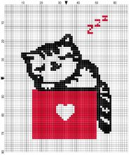 Cat on a Box Counted Cross Stitch Kit
